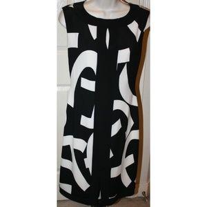 Joseph Ribkoff Geometric Shift Sheath Dress SZ 12